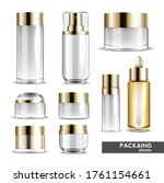 packaging cosmetic gold beauty...   Shutterstock .eps vector #1761154661