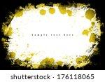 grunge frame. grunge background ... | Shutterstock . vector #176118065