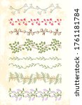 Set Of Floral Looped Border...