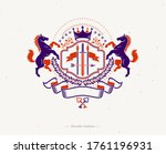 vintage decorative emblem... | Shutterstock .eps vector #1761196931