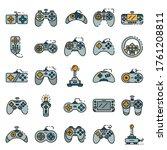 Joystick Icons Set. Outline Se...