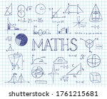 school lesson math  numbers ... | Shutterstock .eps vector #1761215681