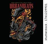 urban beats hiphop style... | Shutterstock .eps vector #1761229901