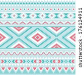 tribal seamless pattern  aztec... | Shutterstock .eps vector #176124911