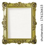 empty golden frame for picture... | Shutterstock . vector #176126615