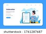 underwriter web banner or... | Shutterstock .eps vector #1761287687