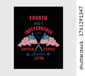 usa independence day t shirt... | Shutterstock .eps vector #1761291347