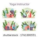 yoga instructor concept set....   Shutterstock .eps vector #1761300551