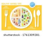 healthy eating tips.... | Shutterstock .eps vector #1761309281