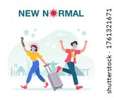 new normal concept illustration ... | Shutterstock .eps vector #1761321671