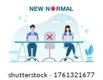 new normal concept illustration ... | Shutterstock .eps vector #1761321677