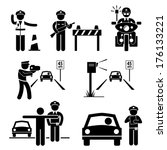 armed,auto,automatic,black,block,camera,cartoon,catching,concept,cones,control,cop,crime,driving,drunk