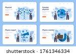 physicist web banner or landing ... | Shutterstock .eps vector #1761346334