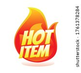 hot item icon. hot sale. hot... | Shutterstock .eps vector #1761378284