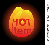 hot item icon. hot sale. hot... | Shutterstock .eps vector #1761379004