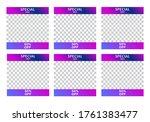social media banner template...   Shutterstock .eps vector #1761383477