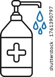 hand sensitize bottle icon ... | Shutterstock .eps vector #1761390797