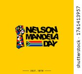 nelson mandela day vector... | Shutterstock .eps vector #1761413957