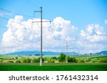 Electricity Poles In A Row....