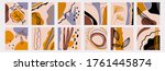 big set of abstract backgrounds....   Shutterstock .eps vector #1761445874