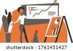 colorful business illustration... | Shutterstock .eps vector #1761451427