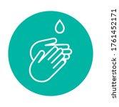 hand gel sanitizer vector label ... | Shutterstock .eps vector #1761452171