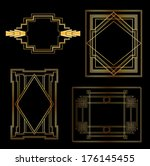 art deco vintage frames and... | Shutterstock .eps vector #176145455