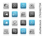 bubble icons    matte series | Shutterstock .eps vector #1761462734