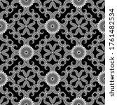 floral vector seamless pattern. ... | Shutterstock .eps vector #1761482534