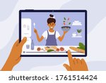 culinary video broadcast ... | Shutterstock .eps vector #1761514424