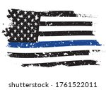 an american flag symbolic of... | Shutterstock .eps vector #1761522011
