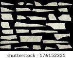 strips of masking tape isolated ... | Shutterstock . vector #176152325