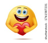 care emoticon characters with... | Shutterstock .eps vector #1761587231