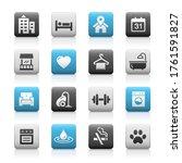 hotel and rentals icons 2 of 2  ... | Shutterstock .eps vector #1761591827