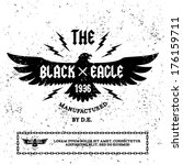 "vintage label "" black eagle"""