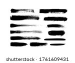 vector grungy paint brush... | Shutterstock .eps vector #1761609431