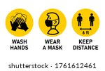 round instruction signs with... | Shutterstock .eps vector #1761612461