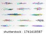 glitch set on transparent... | Shutterstock .eps vector #1761618587