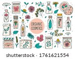 natural organic cosmetics with... | Shutterstock .eps vector #1761621554