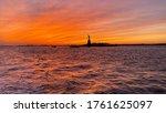 Sunset On Statue Of Liberty ...