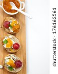 blue cheese and apricot jam... | Shutterstock . vector #176162561