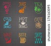 menu icon   latino style drinks ...   Shutterstock .eps vector #176163095