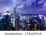 hong kong at night | Shutterstock . vector #176165114