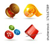 sewing accessories icons | Shutterstock . vector #176167589