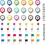 colorful location pin set... | Shutterstock .eps vector #1761723374