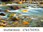 River Stream Water Flow View....
