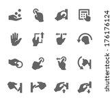 simple set of hands related... | Shutterstock .eps vector #176176124