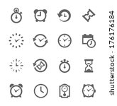 simple set of time related...   Shutterstock .eps vector #176176184