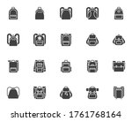 backpack collection vector... | Shutterstock .eps vector #1761768164
