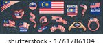 vector set of the national flag ... | Shutterstock .eps vector #1761786104